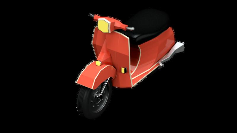 Scooter 3D Illustration
