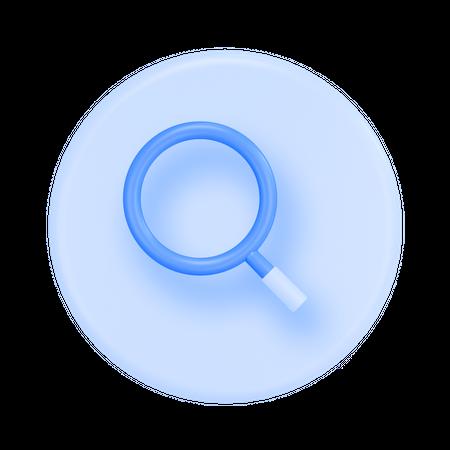 Search 3D Illustration