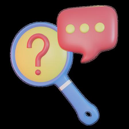 Search Information 3D Illustration
