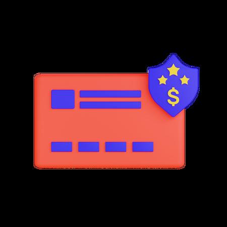 Secure Card 3D Illustration