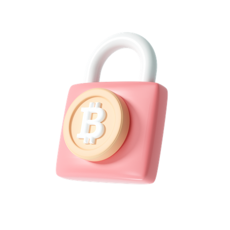 Secure cryptocurrency 3D Illustration