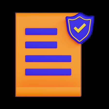 Secure File 3D Illustration