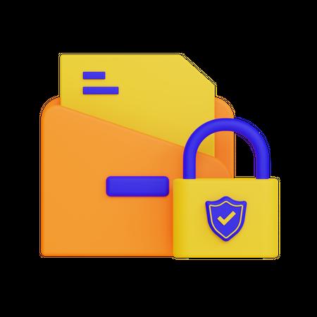 Secure Folder 3D Illustration