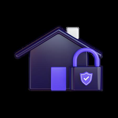 Secure Home 3D Illustration