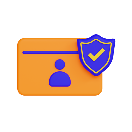 Secure Id 3D Illustration