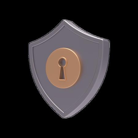 Secure Lock 3D Illustration