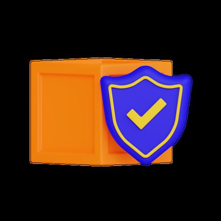 Secure Locker 3D Illustration