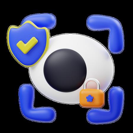 Secure Shield 3D Illustration