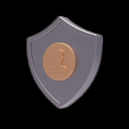 Secure user 3D Illustration