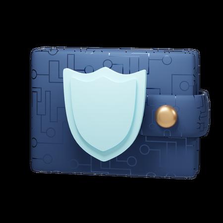 Secure Wallet 3D Illustration