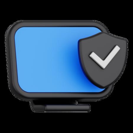 Secured device 3D Illustration