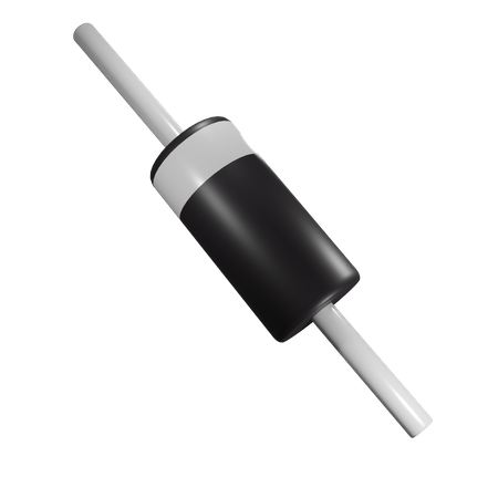 Semiconductor Diode 3D Illustration