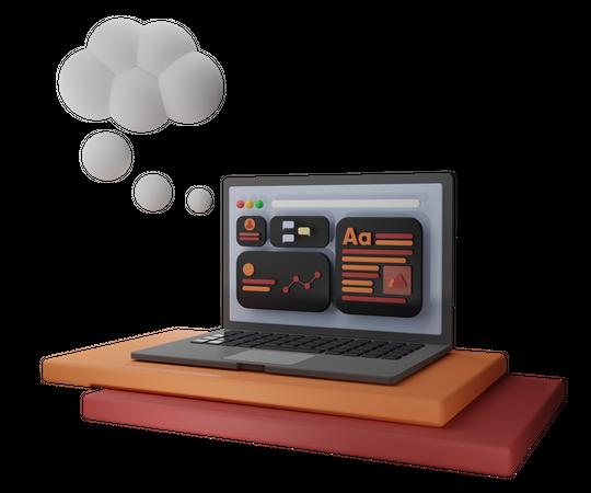 Seo Dashboard Analysis 3D Illustration