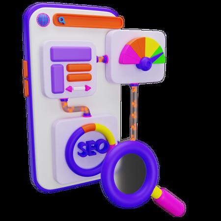 Seo Performance 3D Illustration