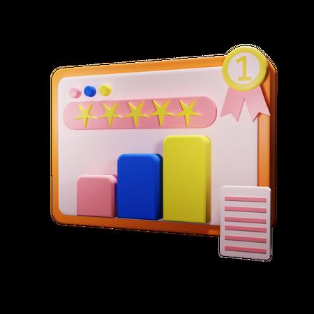 Seo Website Rating 3D Illustration