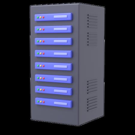 Server 3D Illustration