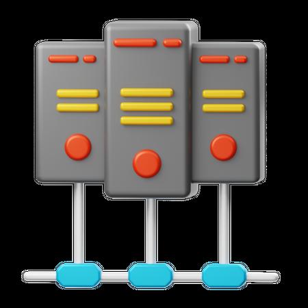 Server Connection 3D Illustration