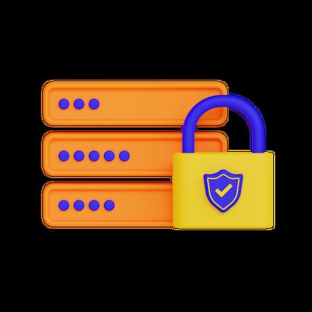 Server Protection 3D Illustration