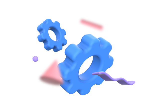 Setting 3D Illustration