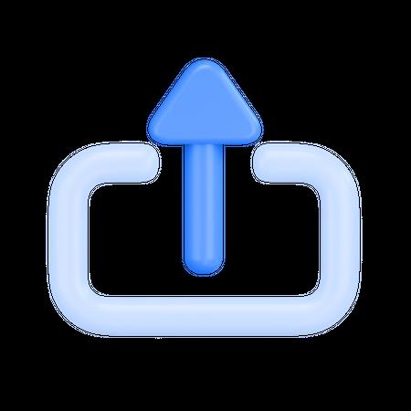 Share File 3D Illustration