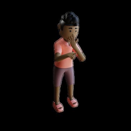 Shocked Businessman 3D Illustration