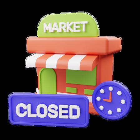 Shop closed 3D Illustration