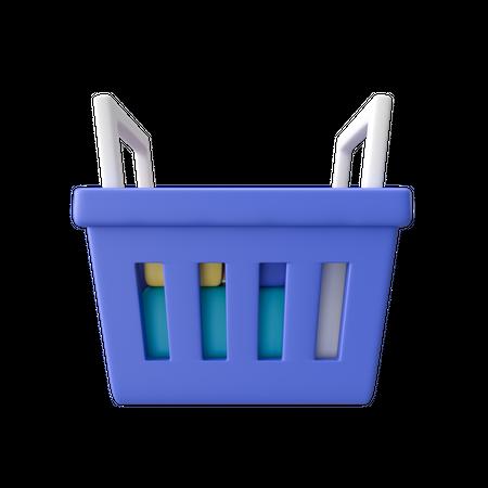 Shopping Basket 3D Illustration