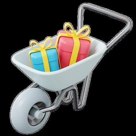 Shopping Cart 3D Illustration