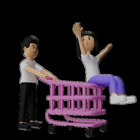 Shopping Celebration 3D Illustration