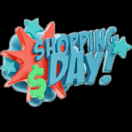 Shopping Day 3D Illustration