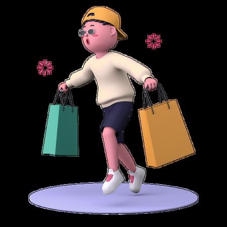 Shopping Love 3D Illustration