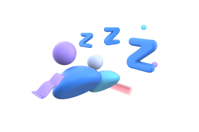 Silent group 3D Illustration
