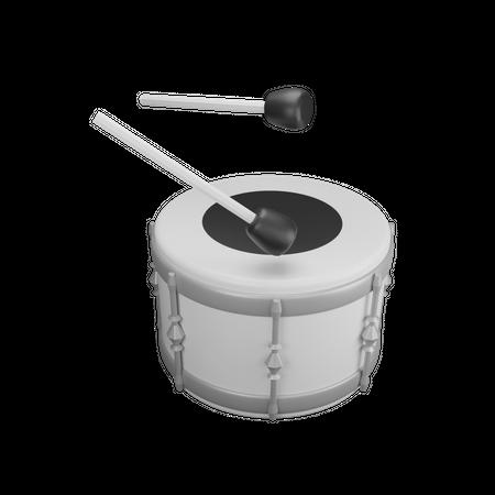 Single Drum 3D Illustration