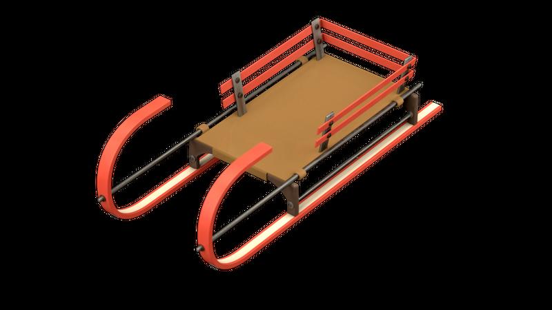 Sled 3D Illustration