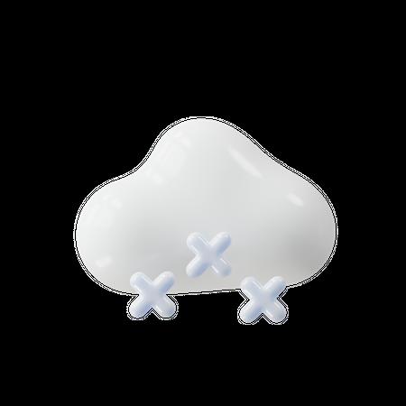 Snowfall 3D Illustration
