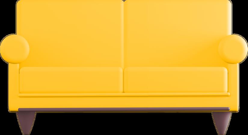 Sofa 3D Illustration