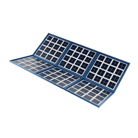 Solar Panel 3D Illustration