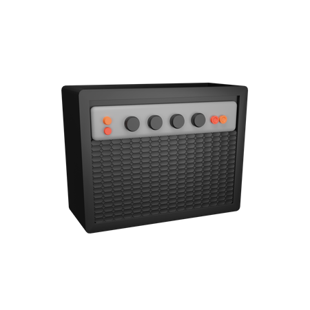 Sound System 3D Illustration