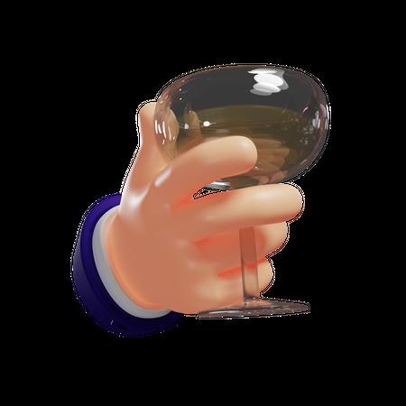 Sparkling Wine 3D Illustration