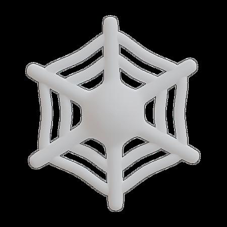 Spider Web 3D Illustration