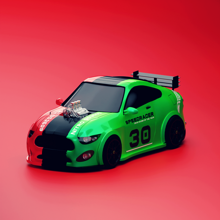 Sports car 3D Illustration