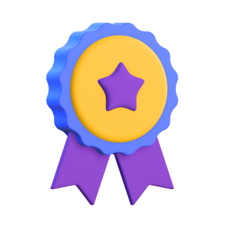 Star Badge 3D Illustration