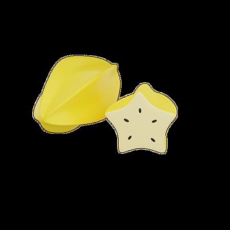 Star Fruit 3D Illustration