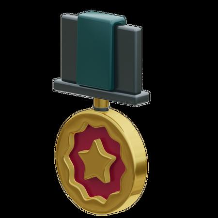 Star Medal 3D Illustration