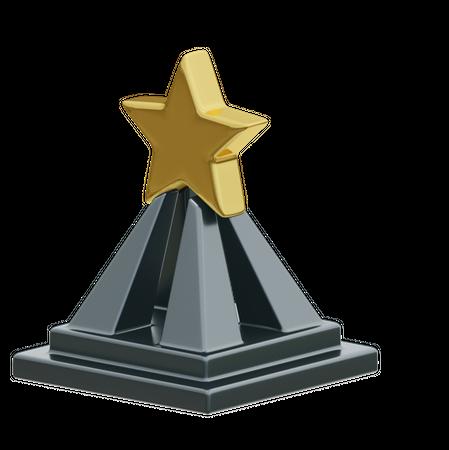 Star Trophy 3D Illustration