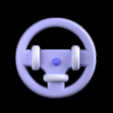 Steering Wheel 3D Illustration