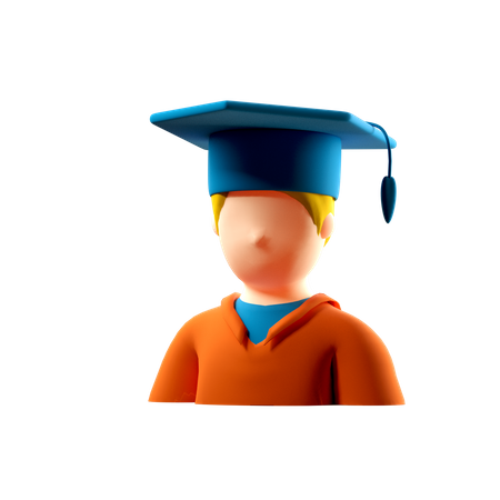 Student 3D Illustration