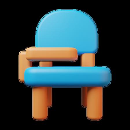 Student Chair 3D Illustration