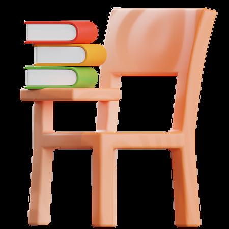 Study Chair 3D Illustration