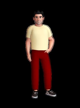 Stylish man 3D Illustration